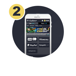 Pay by phone bill Step 2: Press Deposit then Phone Bill & Select Amount