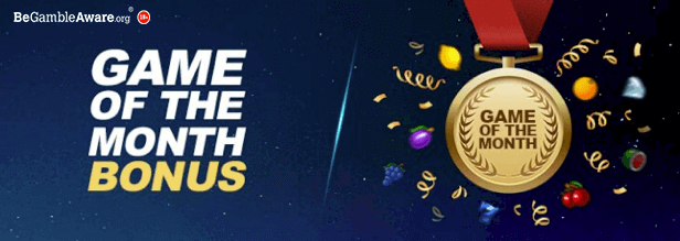 Game of the month bonuses at Cashmo mobile casino