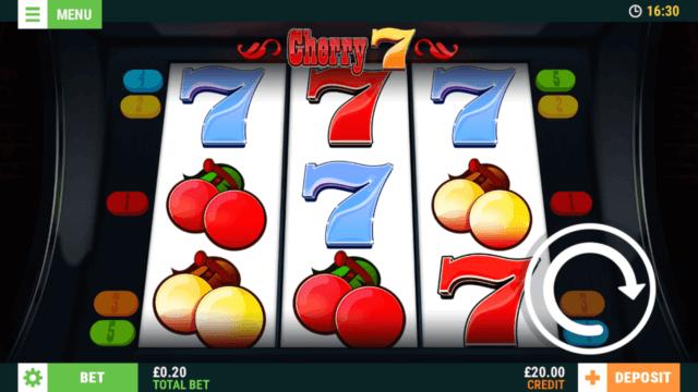 Cherry 7 mobile slots screenshot at Cashmo mobile casino