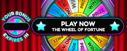 Wheel of fortune feature game at Cashmo mobile casino