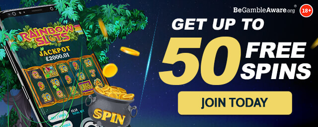 Up to 50 Free Spins - No Deposit Required!*