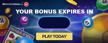 Your bonus expires in - Cashmo Lobby Games Banner