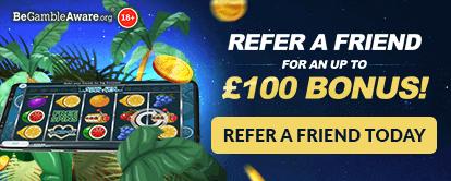 Refer a friend for an up to £100 Bonus! - Cashmo Casino Bonus - Refer a friend today