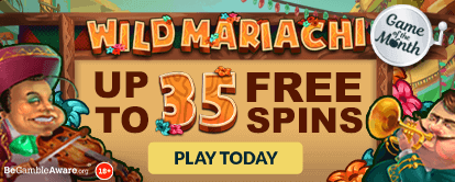 Wild Mariachi online slots at Cashmo online casino - up to 35 Free Spins - Play Today