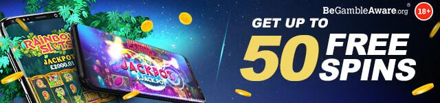 Get up to 50 Free Spins No Deposit Bonus in Cashmo mobile casino