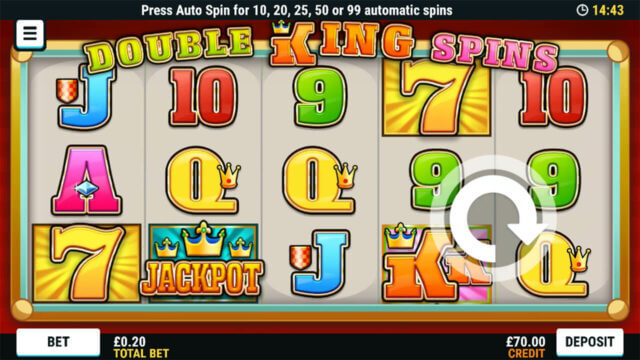 Double King Spin online slots at Cashmo Mobile Casino - in game image