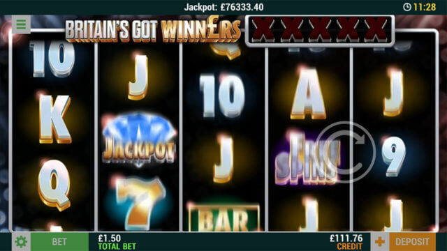 Britain's Got Winners Online Slots at Cashmo Mobile Casino - in game image