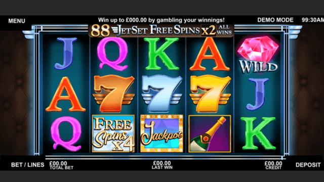 Jet Set Sevens Online Slots at Cashmo Online Casino - in game image