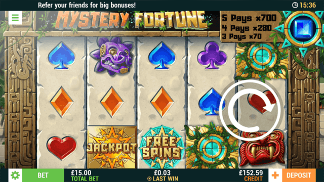 Mystery Fortune - Online Slot - Cashmo Casino - In game Screenshot
