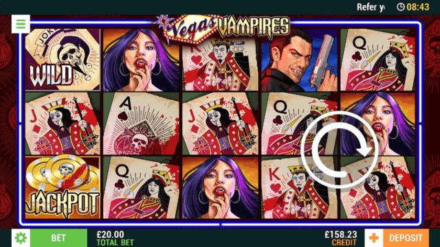 Playing Vegas Vampires online slots at Cashmo online casino