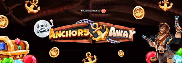 Prepare to set sail in search of treasure, on Cashmo's newest pirate slots game, Anchors Away!