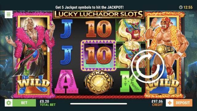 Lucky Luchador Slots - Online Slot - Cashmo Casino - In game screenshot