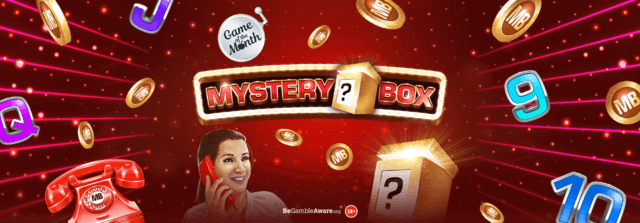 It's time to open up Cashmo's newest mobile slots game, Mystery Box!