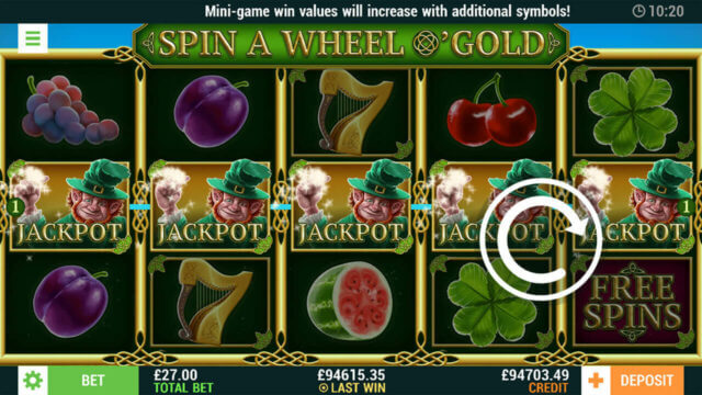 Jackpot Winning Screenshot in Spin A Wheel O'Gold online slots