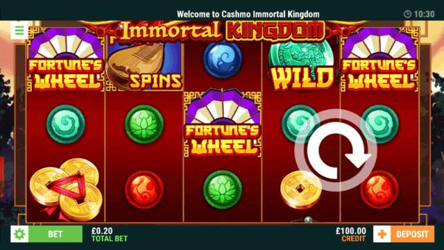 Immortal Kingdom - Online Slot - Cashmo Casino- In game screenshot